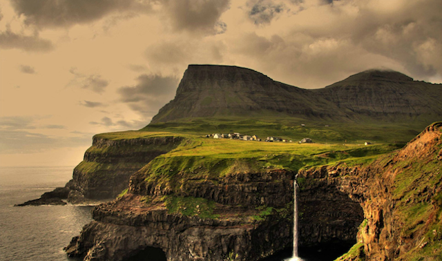 Gàsadalur Village in Faroe Islands, by Gareth Codd