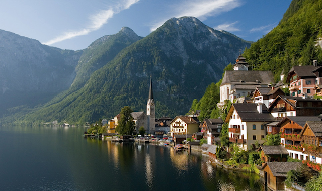 Hallstatt in Austria, unknown photographer