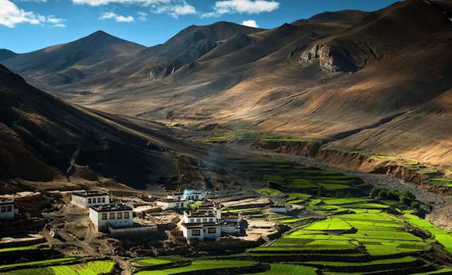 Village in Tibet, by Coolbie Re